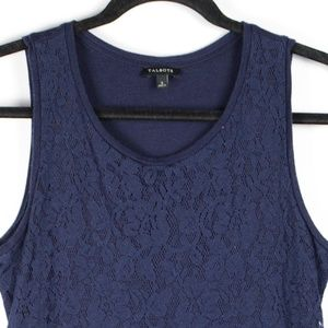 Talbots Navy Blue Lace Tank Top
